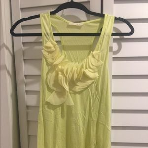 Lime Tank with ruffles